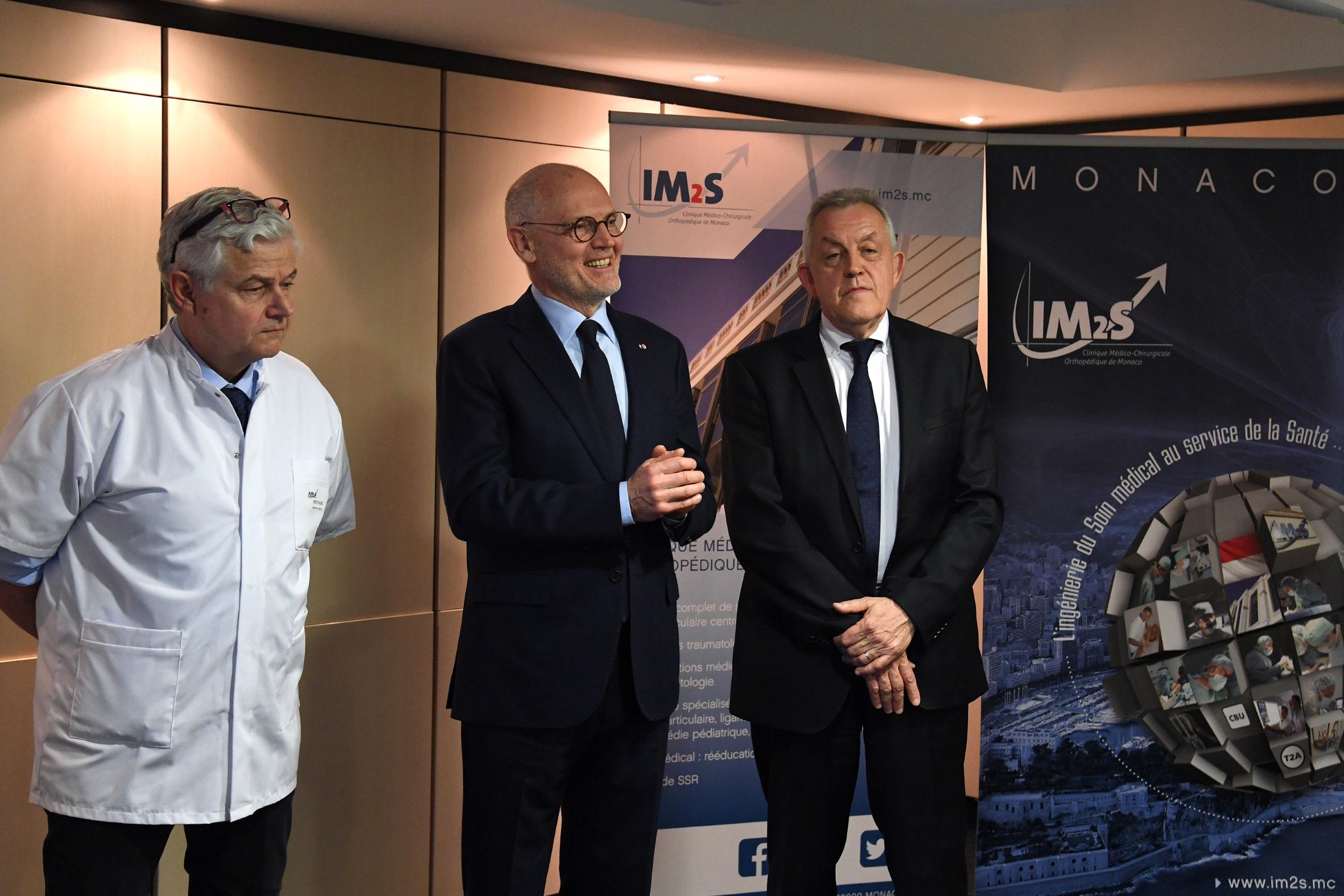 Le Ministre d'Etat à l'Institut Monégasque de Médecine du Sport (IM2S)